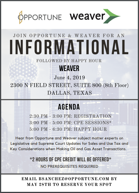 Weaver Informational - Dallas